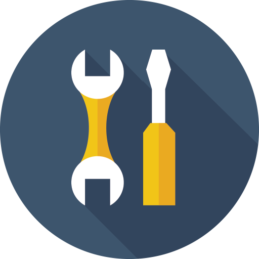 A screwdriver and a wrench